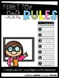 Fidget Toy Rules *FREEBIE*