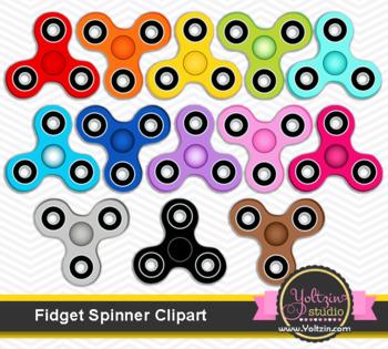 Fidget spinner clipart / fidget hand spinners clipart / fidget spinner clipart