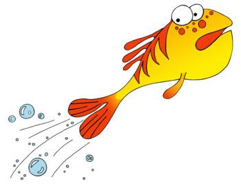 Fidgety Fish Clip Art Clipart Story book Illustrations