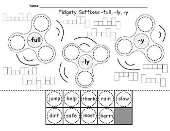 Fidgety Suffixes -ful, -ly, -y