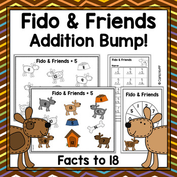 Fido & Friends - Addition Facts to 9 + 9