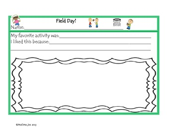 Field Day--2 Writing Pages, Sentence Sort, and More