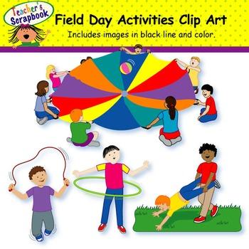 Field Day Activities Clip Art By Teachersscrapbook Tpt