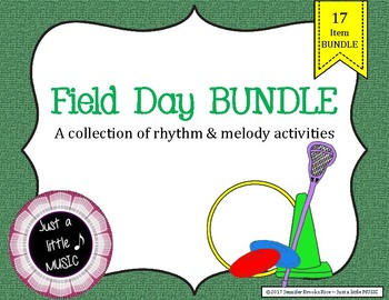 Field Day BUNDLE ~ 17 activities & games for rhythm and melody