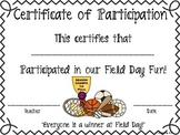 Field Day Certificate