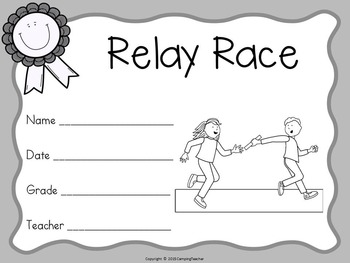 Field Day Certificates Color and Black and White Versions Included