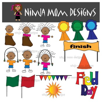 Field Day Clip Art in Color and Black Line UPDATED 57 IMAGES