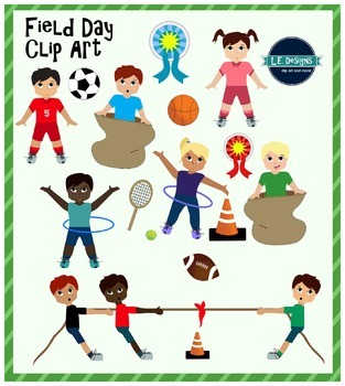 field day clipart by le designs teachers pay teachers rh teacherspayteachers com field day clip art black and white field day clip art free