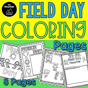 This is a graphic of Obsessed Field Day Coloring Pages