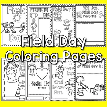 field day coloring pages Field Day Coloring Pages by Mini Mountain Learning | TpT field day coloring pages