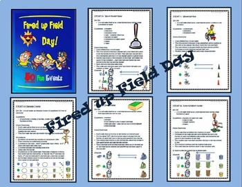 Field Day Combo Packet- Comprehensive Beach Themed Plan and 50 Event Pack Bundle