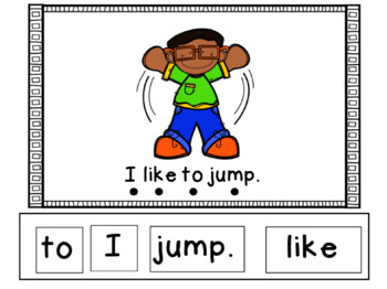 Field Day Emergent Reader - Smartboard File with interactive sentence cards