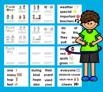 Field Day Readers-3 Levels+Vocab. Cards For Pkt.Chart/Word Wall