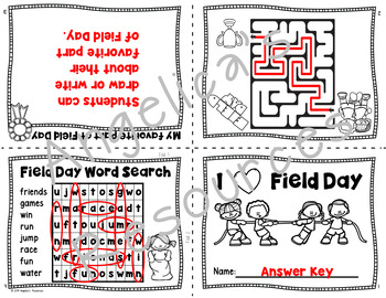 Field Day : End of the Year Activities Book - Foldable - Just print and go!