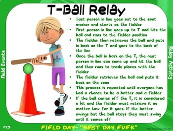"""Field Day Event Cards- 20 """"Grassy"""" Field Events"""