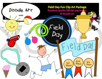 Field Day Fun Clipart Pack