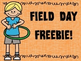 Field Day Fun FREEBIE Coloring and Writing Sheets
