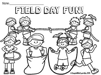 field day coloring pages Field Day Fun FREEBIE Coloring and Writing Sheets by CasedillaCrumbs field day coloring pages