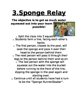 Field Day Games and Directions