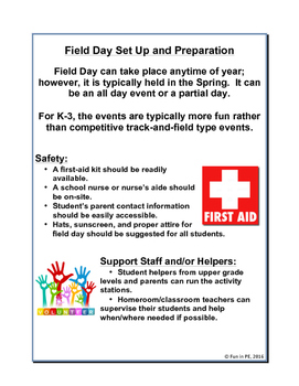 Field  Day Guide for K-3: Planning, Set-up, Activities, Guides and More