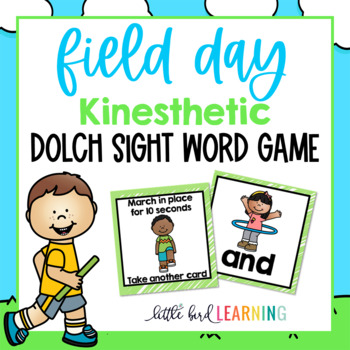 Field Day *KINESTHETIC* Sight Word Game - ALL 220 Dolch Words!