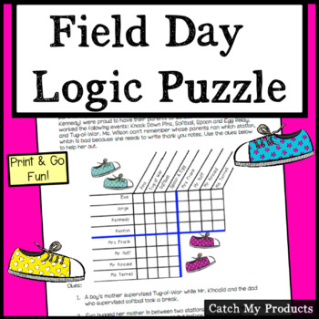 Field Day Logic Puzzle for Fun End of the Year Activities