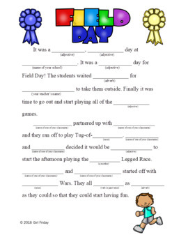 Field Day MadLibs
