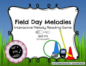 Field Day Melodies - Interactive Practice Game for Notation {sol mi} 5 line