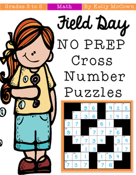 Field Day NO PREP Number Puzzles {Grades 3 to 5}