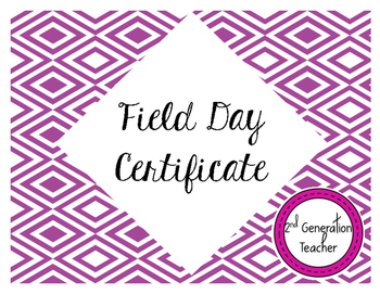 Field Day Participation Certificate
