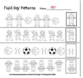 Field Day Patterns~Worksheet