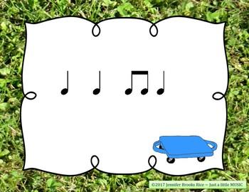 Field Day Rhythms - Rhythm Reading Practice Game {ta titi}