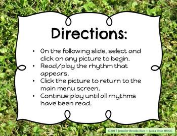 Field Day Rhythms - Rhythm Reading Practice Game {tika tika}