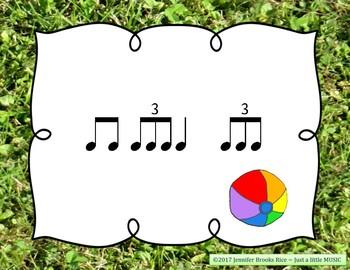 Field Day Rhythms - Rhythm Reading Practice Game {triple-ti}