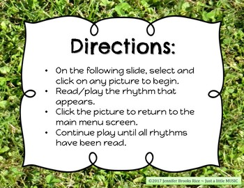 Field Day Rhythms - Rhythm Reading Practice Game {triple-ti}