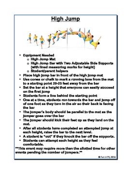 Field Day Survival Guide Middle School Grades 7-8 Schedules, Rules, Activities