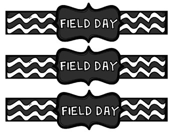Field Day Printable Water Bottle Labels in 7 Different Colors