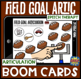 Field Goal Articulation BOOM Cards: Football Speech Therapy Distance Learning