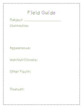 Field Guide Grades K-2