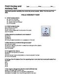 Field Hockey Quiz
