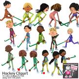 Field Hockey Sport Clip Art for PE