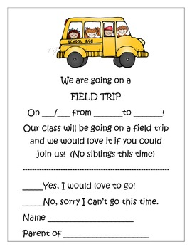 Field Trip~ A way we go