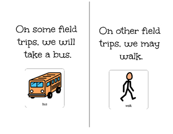 Field Trip Behavior-Adapted Book for Students with Disaiblities