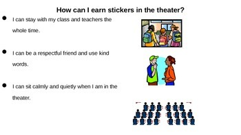 Field Trip Behavior Cue Cards and Charts