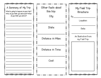 Field Trip Brochure {Let Students Show What They Learned!}
