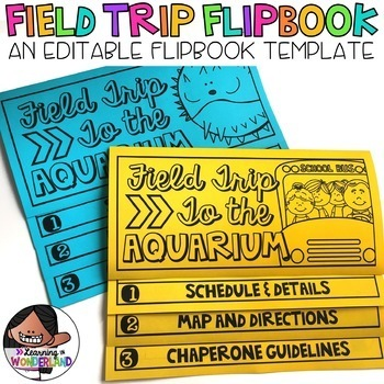 Field Trip Bundle Editable Flipbook And Name Tags By Learning In