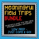 Field Trip Activities Bundle