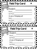 Field Trip Card