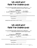 *Free* Field Trip Chaperones Sign-Up Form