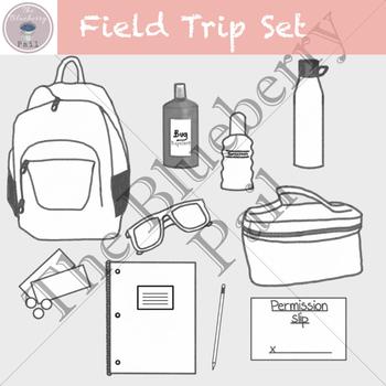 Field Trip Clip Art Set